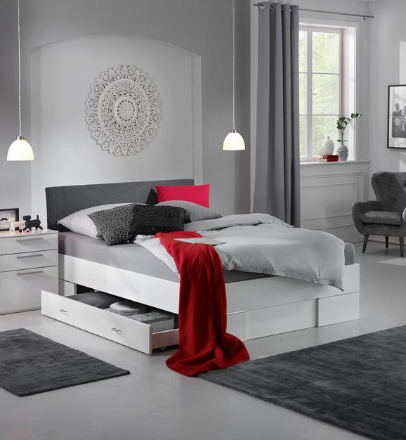 Bett Weiß/Anthrazit 140x200cm - Anthrazit/Weiß, KONVENTIONELL, Holz (140/200cm) - Modern Living