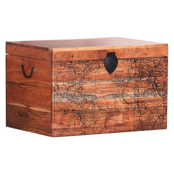 Truhe in Naturfarben - Naturfarben, LIFESTYLE, Holz (70/45/45cm) - Premium Living