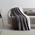 Decke Rebekka mit Wendeseite ca.140x200cm in Grau - Grau, MODERN, Textil (140/200cm) - Mömax modern living