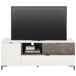 TV-Element in Weiß/Graphitfarben - Graphitfarben/Weiß, MODERN, Holzwerkstoff/Kunststoff (154/60/43cm) - Modern Living