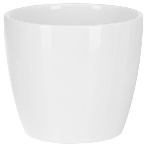 Übertopf Stefanie Weiß - Weiß, Keramik (10,3/8,9cm) - Based