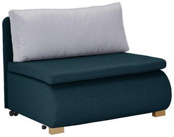 Schlafsessel in Türkis mit Rückenkissen - Türkis, KONVENTIONELL, Holz/Kunststoff (100/80/100-193cm) - Modern Living
