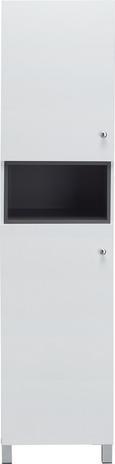 Hochschrank Bianco - Dunkelgrau/Weiß, MODERN, Kunststoff (42,6/175/35cm) - MÖMAX modern living