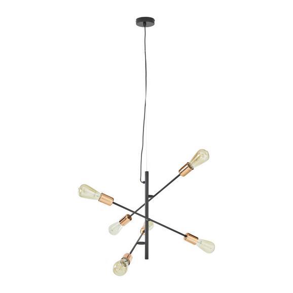 Hängeleuchte Kuno, max. 15 Watt - Schwarz/Kupferfarben, LIFESTYLE, Metall (55/149cm) - Mömax modern living