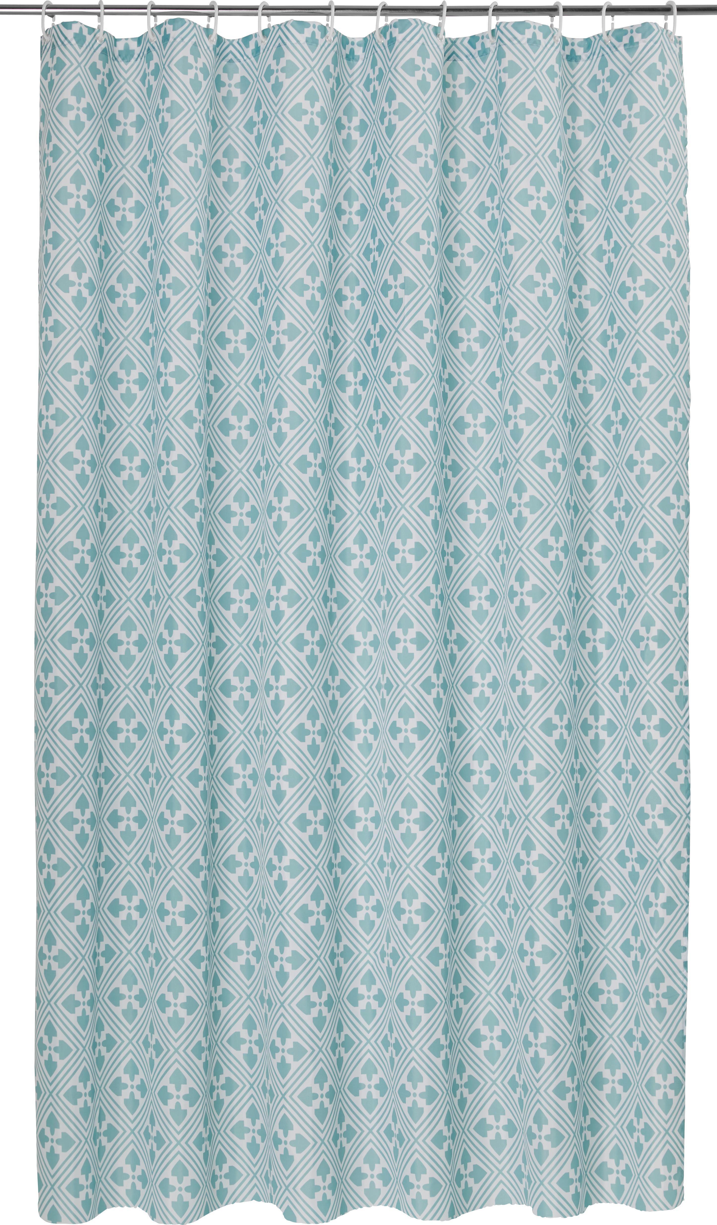 Zuhanyfüggöny Spain - türkiz, Lifestyle, textil (180/200cm) - MÖMAX modern living