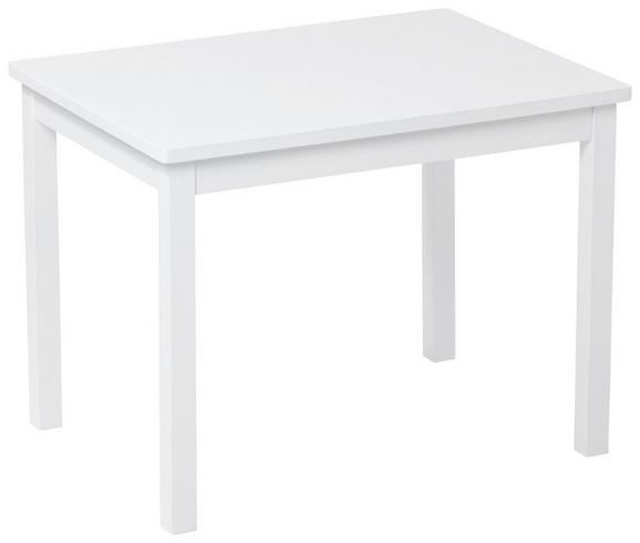 Kindertisch in Weiß, ca. 66,5x50x50cm - Weiß, ROMANTIK / LANDHAUS, Holz (66,5/50/50cm)