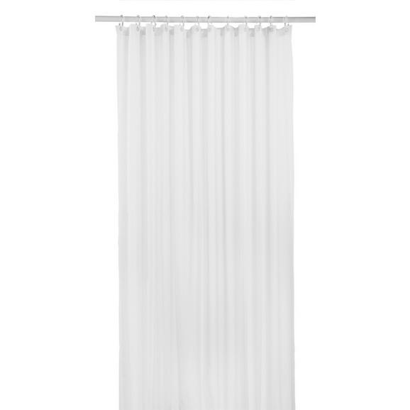 Duschvorhang Uni Weiß 180x200cm - Weiß, Textil (180/200cm) - Mömax modern living