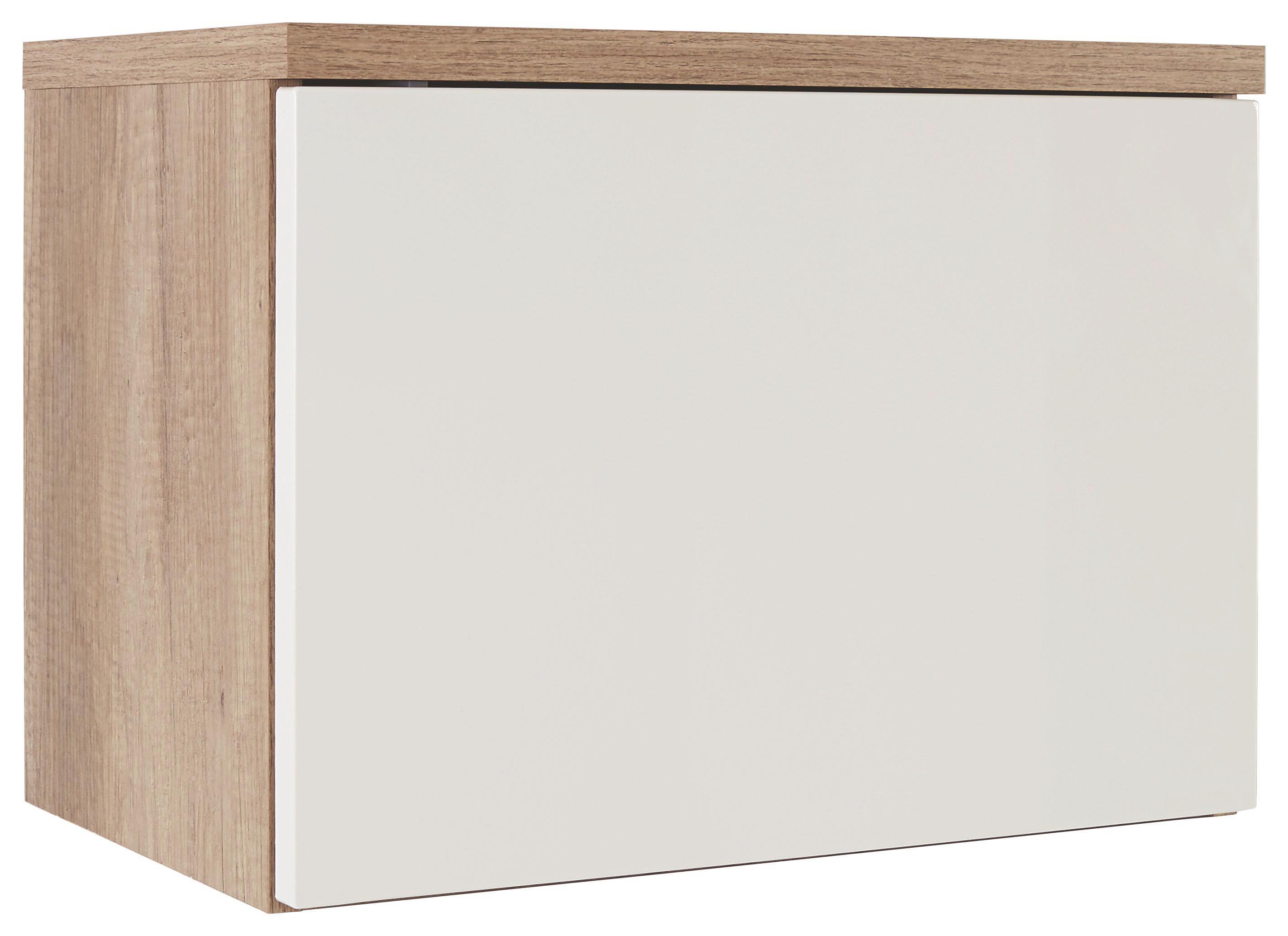 Előszoba Rátét Szekrény Space - tölgy színű/fehér, modern (55/40/35cm)