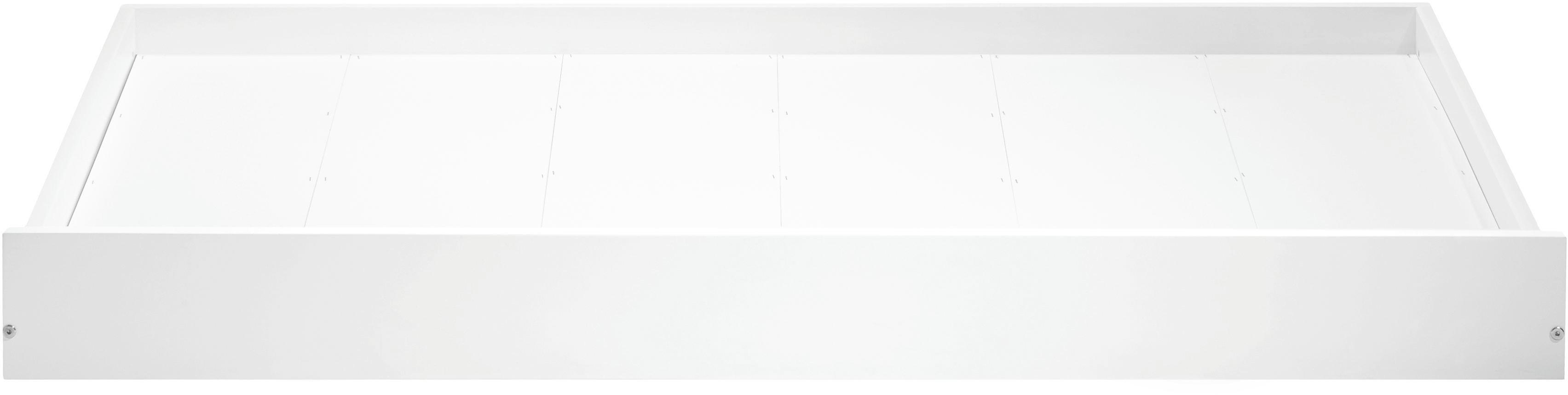 Bettschubkasten in Weiß aus Holz - Weiß, Holz/Kunststoff (154/16/94cm) - ZANDIARA