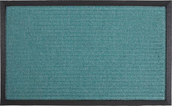 Fußmatte Ingo, ca. 40x60cm - Türkis/Schwarz, MODERN, Kunststoff (40/60cm) - Mömax modern living