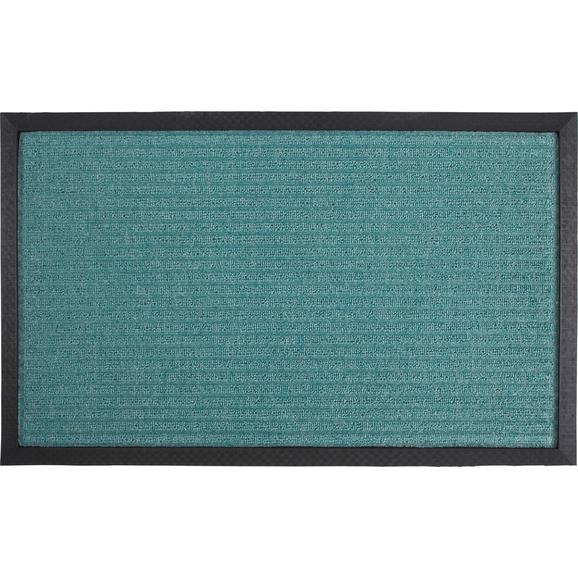 Fußmatte Ingo ca.45x75cm - Türkis/Schwarz, MODERN, Kunststoff (25/60cm) - Mömax modern living