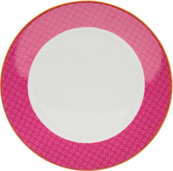 Desertni Krožnik Sahara - roza/bela, Trendi, keramika (20,32cm) - MÖMAX modern living