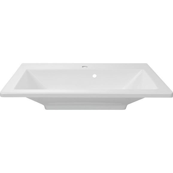 Umivalnik Domino - bela, kamen (80/17/50cm)