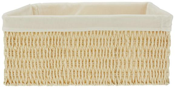 Korb Sally XL in Natur/Weiß - Naturfarben/Weiß, Papier/Textil (40/31/17cm) - Mömax modern living