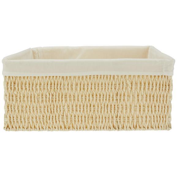 Košara Sally - Xl - naravna/bela, papir/tekstil (40/31/17cm) - Mömax modern living