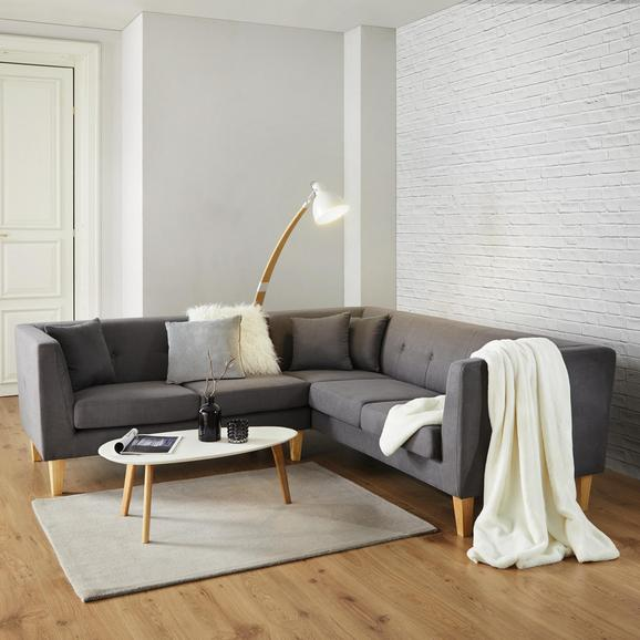 Wohnlandschaft Crissie - Dunkelgrau/Naturfarben, MODERN, Holz/Textil (233/230cm) - Mömax modern living