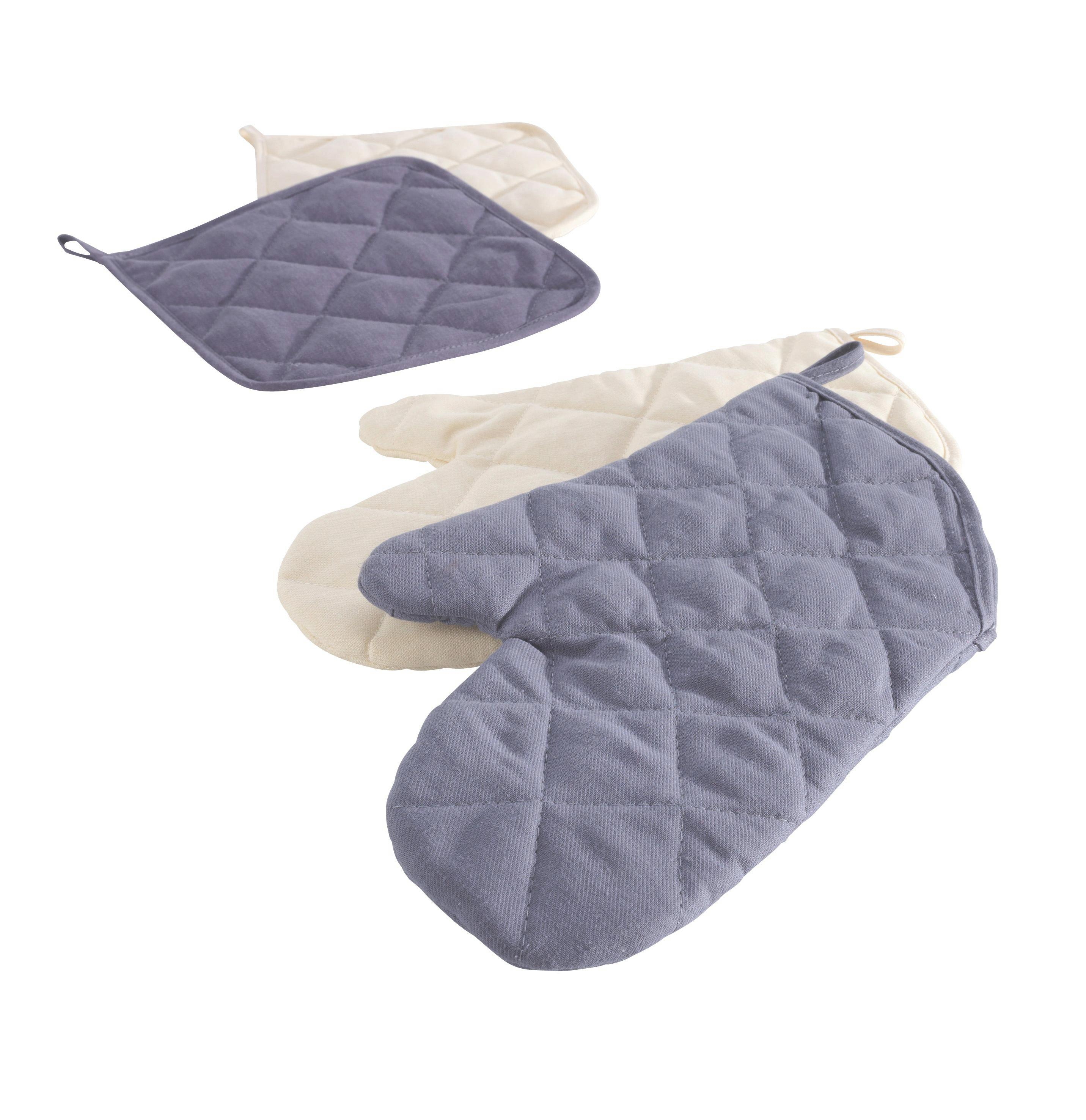 Topfhandschuh Evelin in Natur aus Baumwolle - Grün, Textil (19/30cm) - MÖMAX modern living
