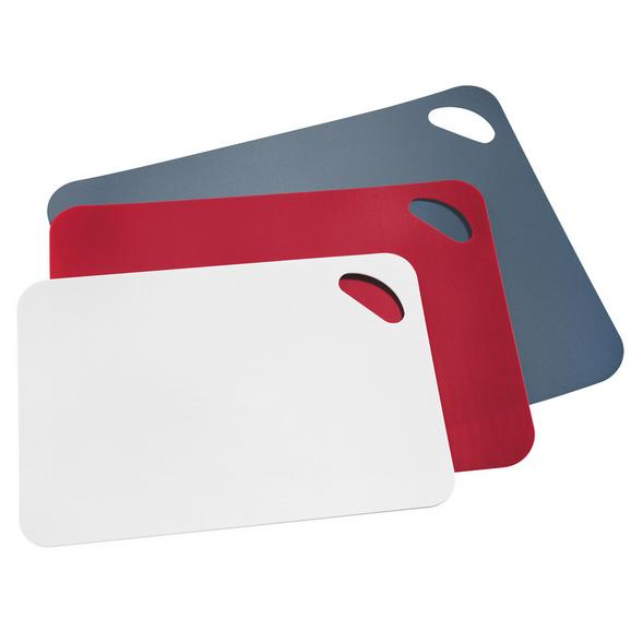 Schneidematte Mano aus Kunststoff, 3-teilig - Rot/Weiß, KONVENTIONELL, Kunststoff - Mömax modern living