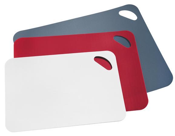 Schneidematte Mano - Rot/Weiß, KONVENTIONELL, Kunststoff - Mömax modern living
