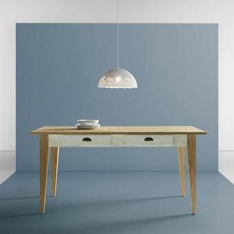 Esstisch Nicolo 160x80cm - Braun/Weiß, MODERN, Holz (160/80/78,5cm) - Modern Living