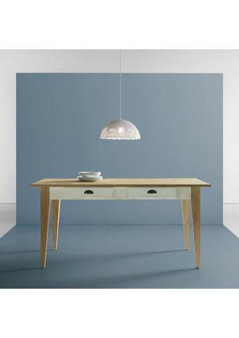 Tisch Nicolo ca.160x80cm - Eichefarben/Weiß, MODERN, Holz (160/80/78,5cm) - Bessagi Home