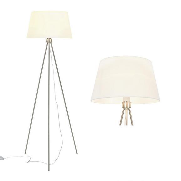 Stehleuchte Gero - Weiß, MODERN, Textil/Metall (40/40/140cm) - Bessagi Home