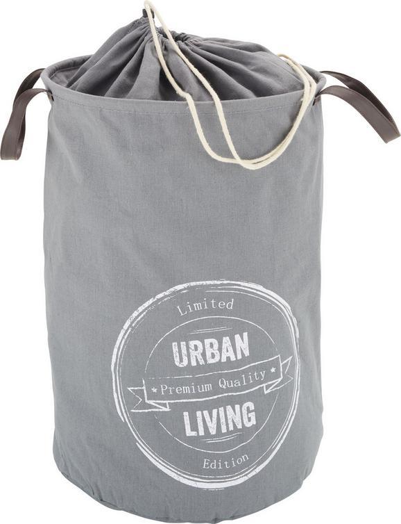 Wäschetonne Urban in Grau/Weiß - Weiß/Grau, LIFESTYLE, Textil (34/53cm) - MÖMAX modern living