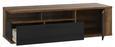 Tv - Elem Lacjum - tölgy színű, modern, műanyag/fém (161,5/46,7/52,3cm)