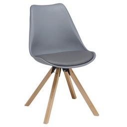 Stuhl Ricky   Naturfarben/Grau, MODERN, Holz/Textil (47,4
