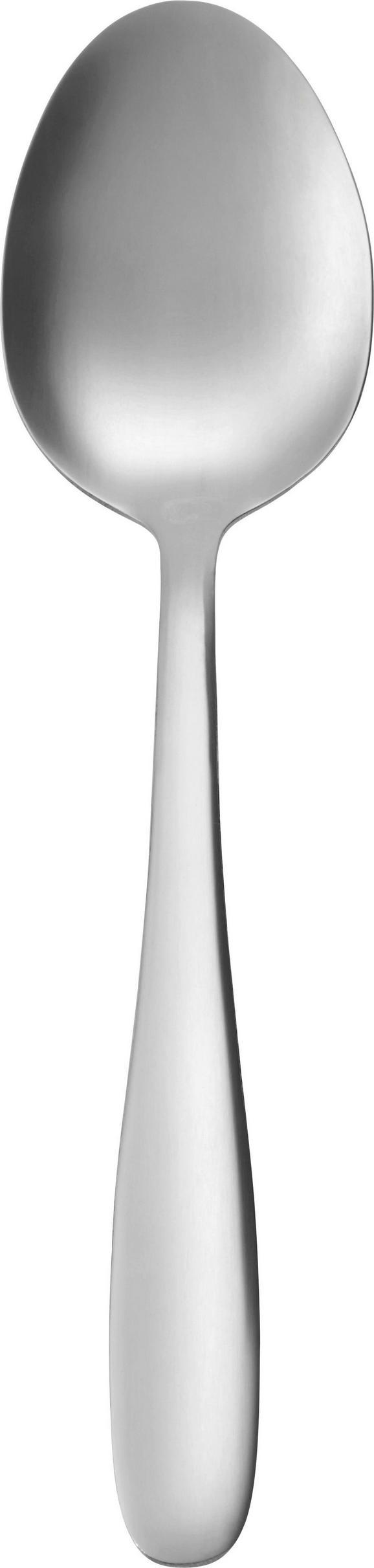 Löffel Demi aus Edelstahl - Edelstahlfarben, KONVENTIONELL, Metall (19,5cm) - Mömax modern living