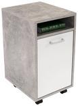 Predalnik Na Kolescih Laurenc - aluminij/siva, Moderno, umetna masa/leseni material (33/59,5/38cm) - Mömax modern living