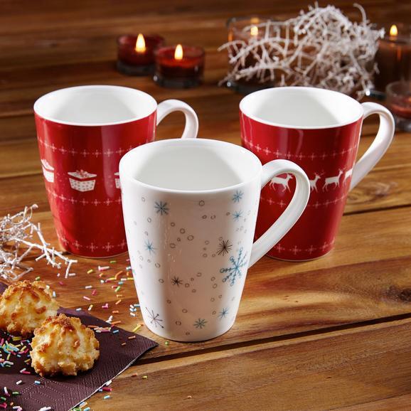 Kaffeebecher Vivo - Rot/Weiß, KONVENTIONELL, Keramik - VILLEROY & BOCH