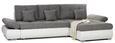 Kotna Sedežna Garnitura Enrico - črna/siva, Moderno, kovina/umetna masa (303/185cm) - Mömax modern living