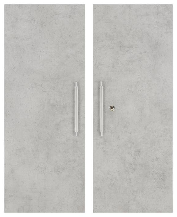 Türenset Grau - Alufarben/Grau, MODERN, Holzwerkstoff/Metall (75,6/102,3cm) - Mömax modern living
