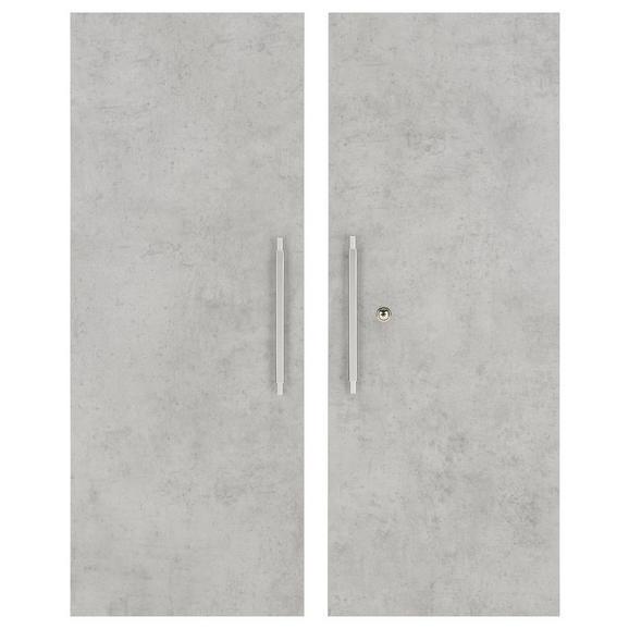 Türenset in Grau - Alufarben/Grau, MODERN, Holzwerkstoff/Metall (75,6/102,3cm) - Mömax modern living