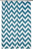 Duschvorhang Chevron, ca. 180x200cm - Türkis/Weiß, LIFESTYLE, Textil (180/200cm) - MÖMAX modern living