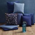 Kissen Milane Blau ca. 40x40cm - Blau/Braun, MODERN, Textil (40/40cm) - Bessagi Home