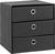 Schubladenbox Mona Anthrazit ca. 32x31,5cm - Anthrazit, MODERN, Karton/Textil (32/31,5/32cm) - Mömax modern living