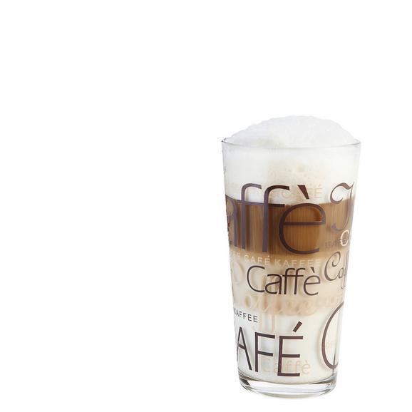 Pahar Pentru Cafea Rocco - maro/clar, Konventionell, sticlă (0.39l)