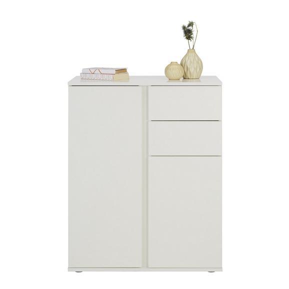 Kommode in Weiß - Weiß/Grau, MODERN, Holzwerkstoff/Kunststoff (75/95/43cm) - Modern Living
