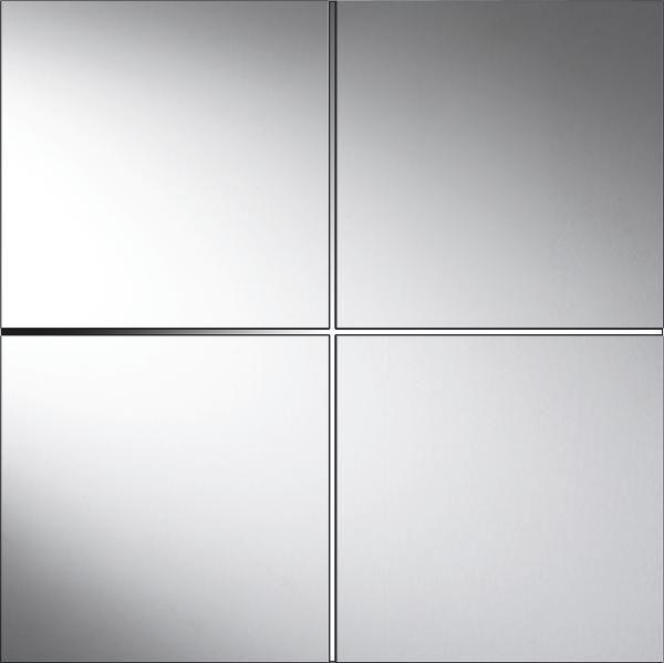 Spiegelfliesenset Tail in Silber - Silberfarben, Glas (30/30cm) - MÖMAX modern living