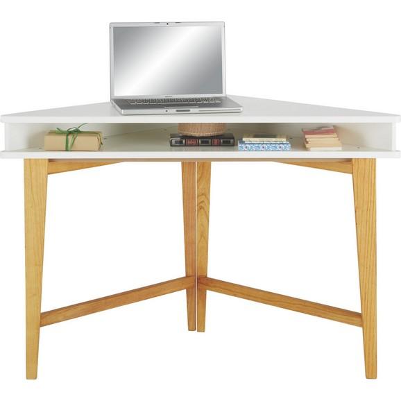 eckschreibtisch in braun wei online kaufen m max. Black Bedroom Furniture Sets. Home Design Ideas
