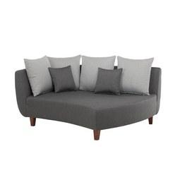 Sofaelement in Grau mit Kissen - Dunkelgrau/Hellgrau, MODERN, Holz/Textil (170/102/138cm) - Modern Living