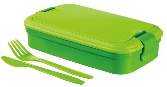 Tízórai- Vagy Uzsonna Szett Curver Lunch&go Evőeszközzel - zöld, műanyag
