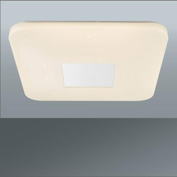 Stropna Led-svetilka Betty - bela, Moderno, kovina/umetna masa (43,5/43,5/6,5cm) - Mömax modern living