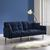 Sofa Jara mit Schlaffunktion inkl. Kissen - Blau/Chromfarben, MODERN, Holz/Textil (195/82/87cm) - Mömax modern living