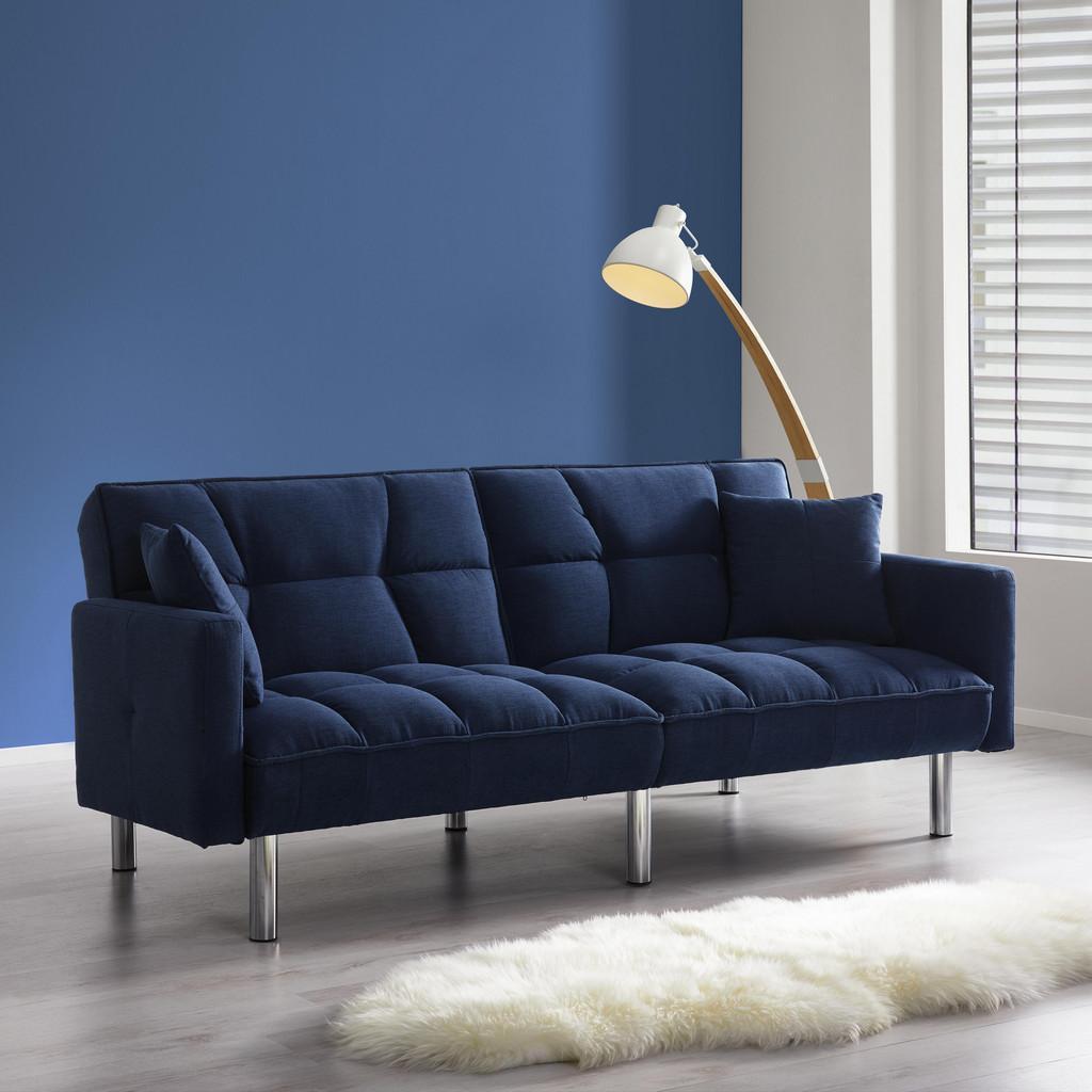 Sofa mit Schlaffunktion in Blau 'Jara'