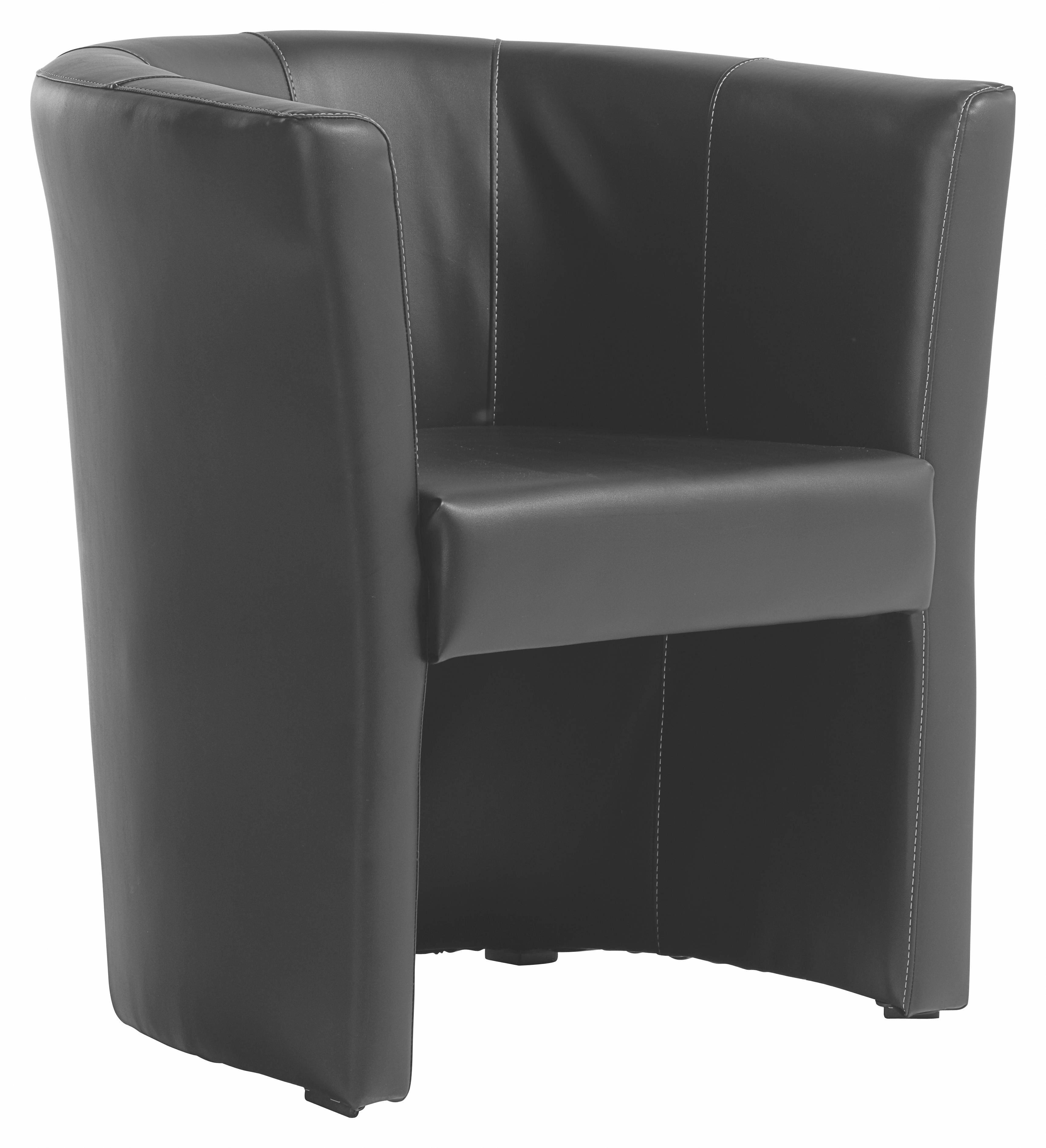 Sessel in Schwarz - Schwarz/Weiß, LIFESTYLE, Kunststoff/Textil (54/72/63cm) - MÖMAX modern living