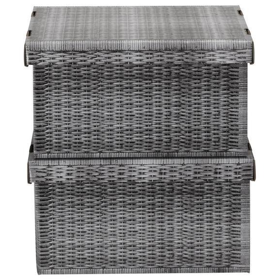 Box mit Deckel Jimmy Grau - Grau, Karton (35,5/18,5/26,4cm) - Mömax modern living