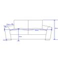 Sofa Gerrard Dreisitzer inkl. Rückenkissen & Kissen - Grau, MODERN, Holz/Textil (203/89/85cm) - Mömax modern living